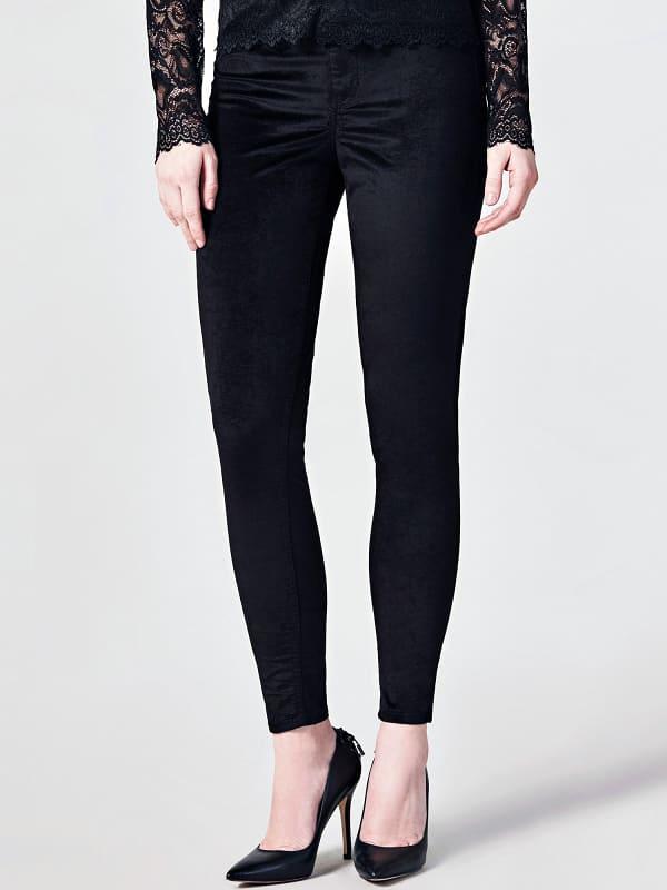 Pantalon Skinny Velours