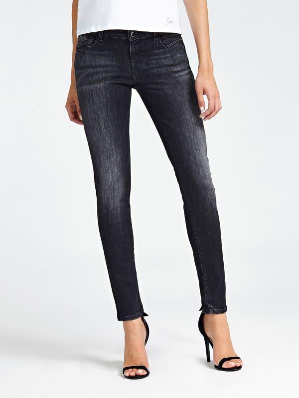 5-Pocket-Jeans Slim | Bekleidung > Jeans > 5-Pocket-Jeans | Schwarz | Denim - Baumwolle - Polyester | Guess