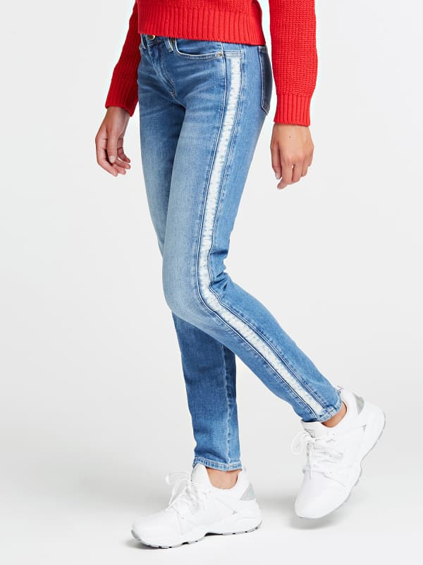 Jean Skinny Bandes Laterales
