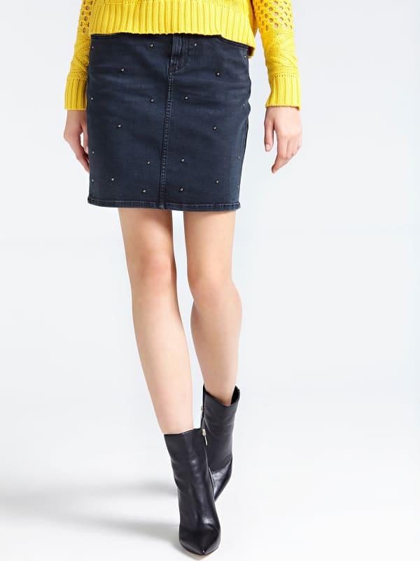 Jeansrock Nieten Vorn   Bekleidung > Röcke > Jeansröcke   Guess