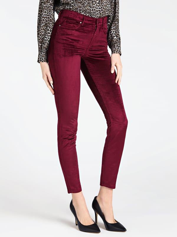 Pantalon Skinny Effet Velours