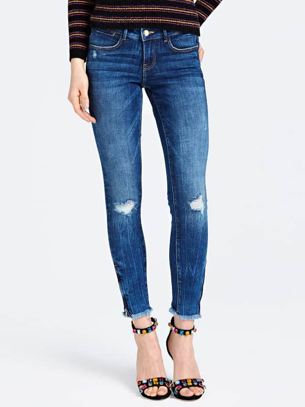 GUESS Jeans-Jeggings Used Abriebstellen