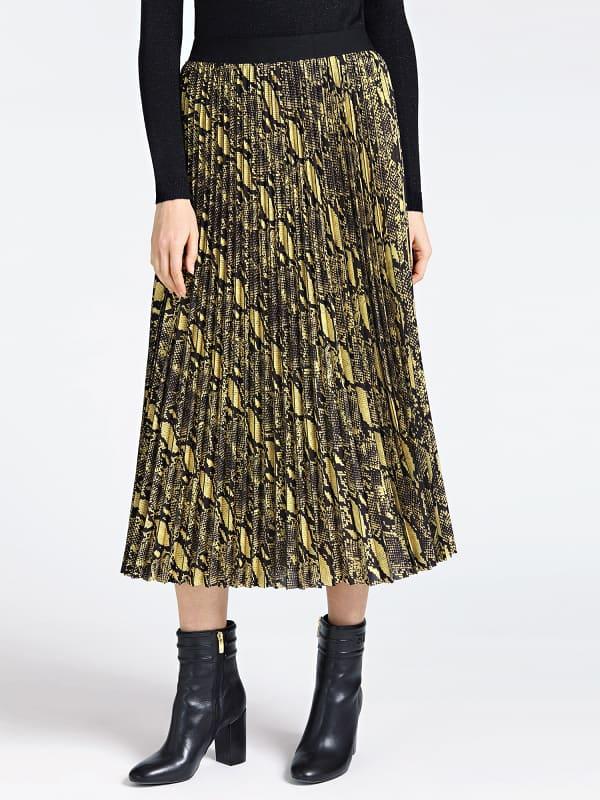 Jupe plissee imprime tartan