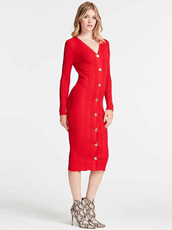 Guess Dress With Buttons On The Front
