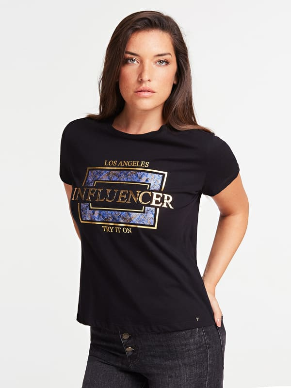 T shirt imprime influencer