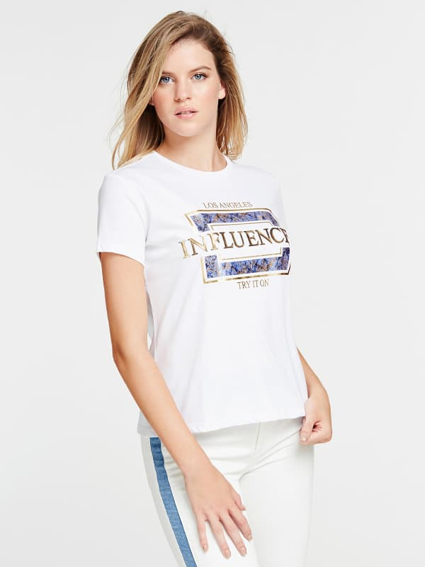 GUESS T-Shirt Influencer-Print