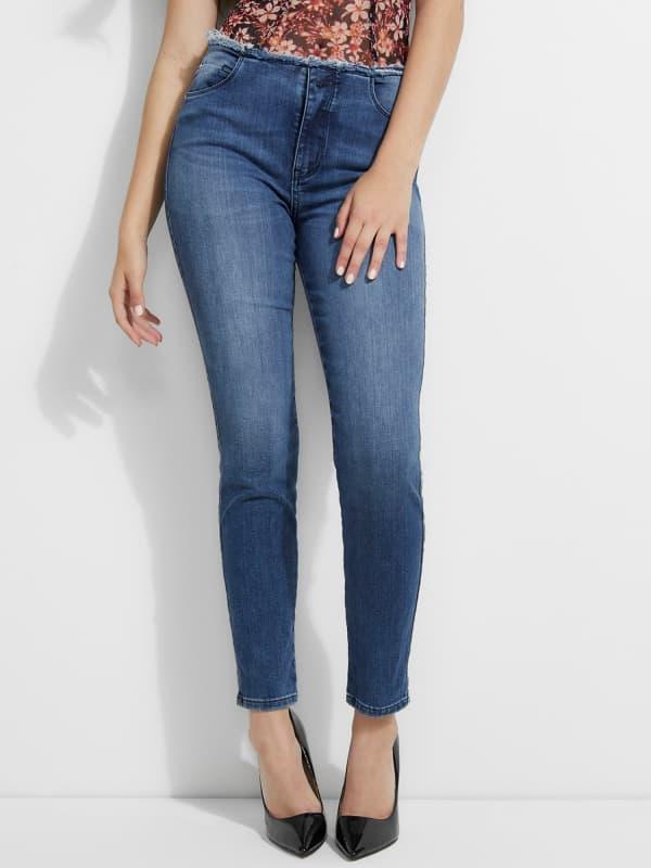 GUESS Jeans Skinny Fit Ausgefranster Bund