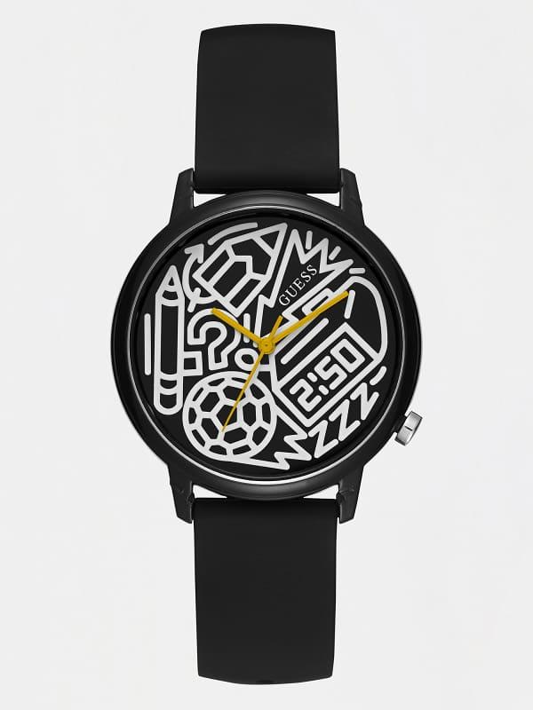 GUESS Analog-Armbanduhr Graffiti-Print