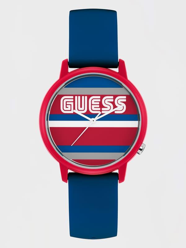 GUESS Armbanduhr Gehäuse Mit Logo Und Streifenmuster | GUESS SALE