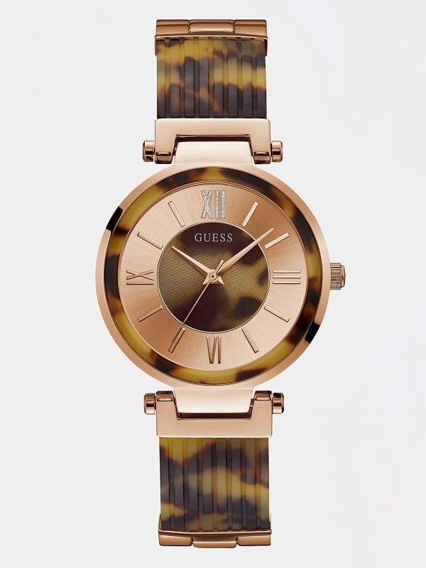 GUESS Armbanduhr Gliederarmband Stahl
