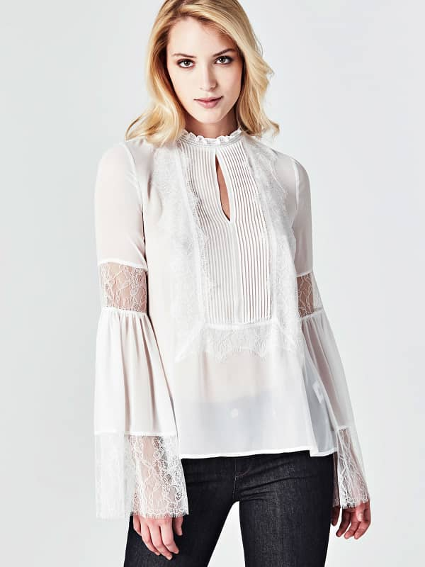 Bluse Marciano Details Aus Spitze - Guess