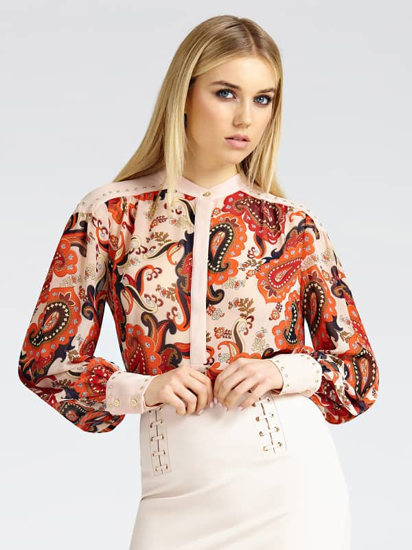 Bluse Marciano Paisley-Print Mit Nieten - Guess