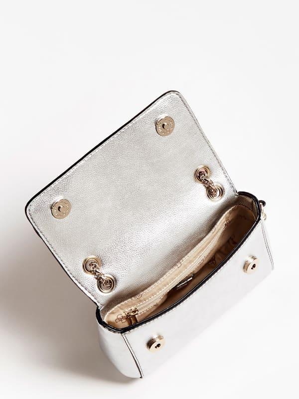 Mini Umhängetasche Carina Metallic Optik