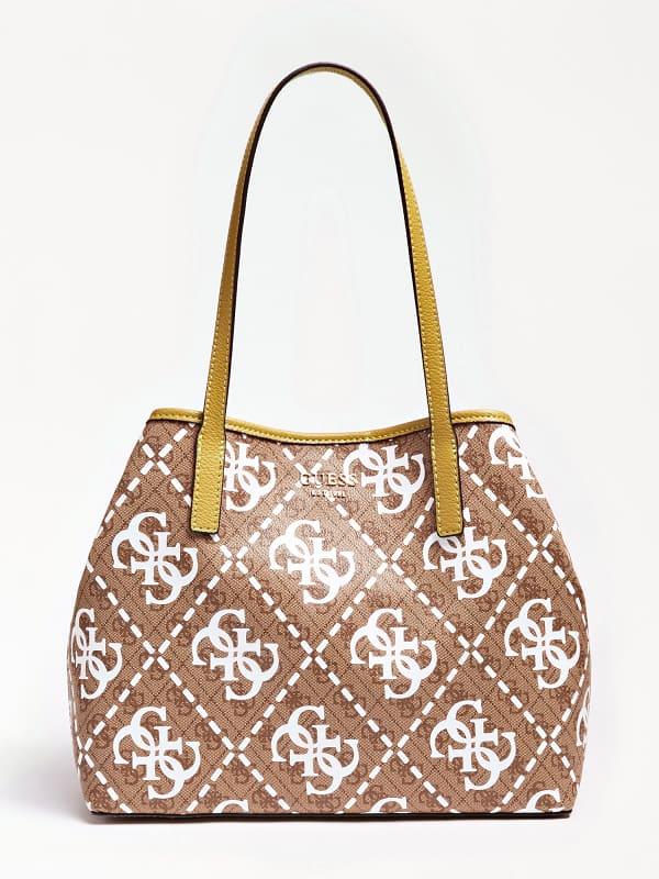 Guess Vikky Shopper With Logo Print And Pochette   ricciano