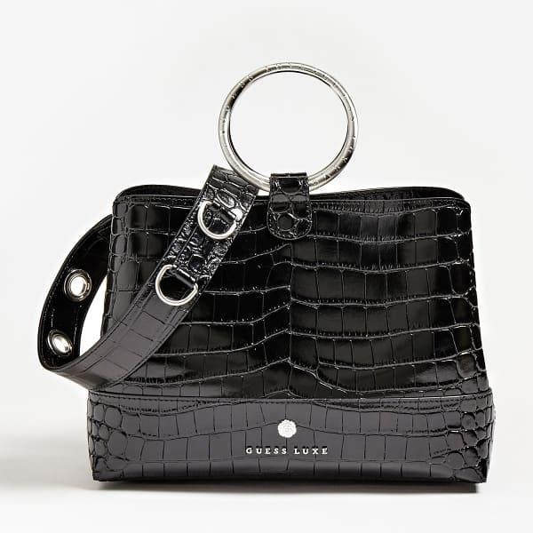 Guess Tasche, echtes Leder, schwarz