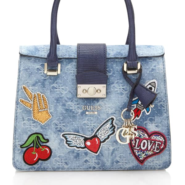 BORSA ELIA IN DENIM | GUESS.eu