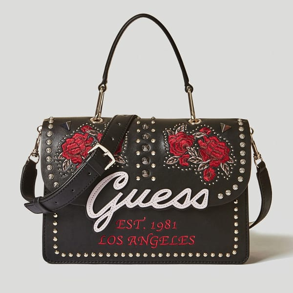 sac guess in love broderie et clous