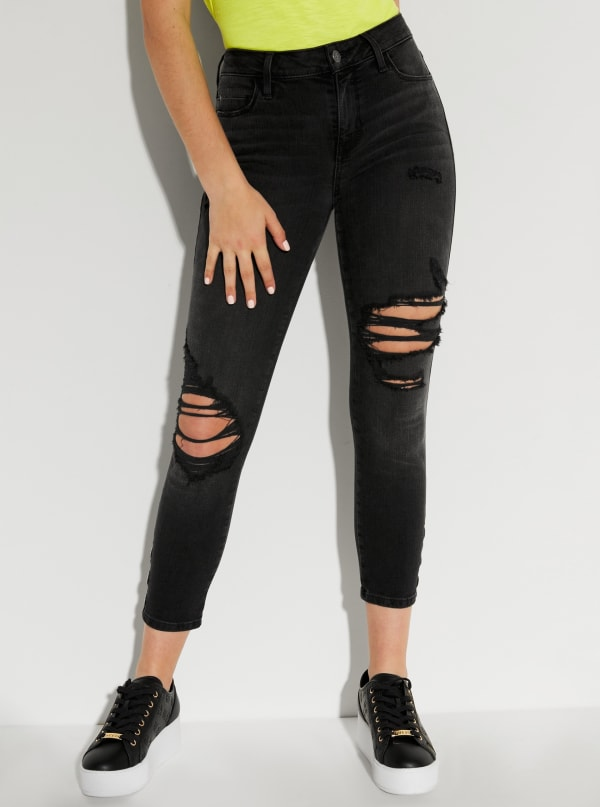 Sexy Curve Cropped Grommet Jeans