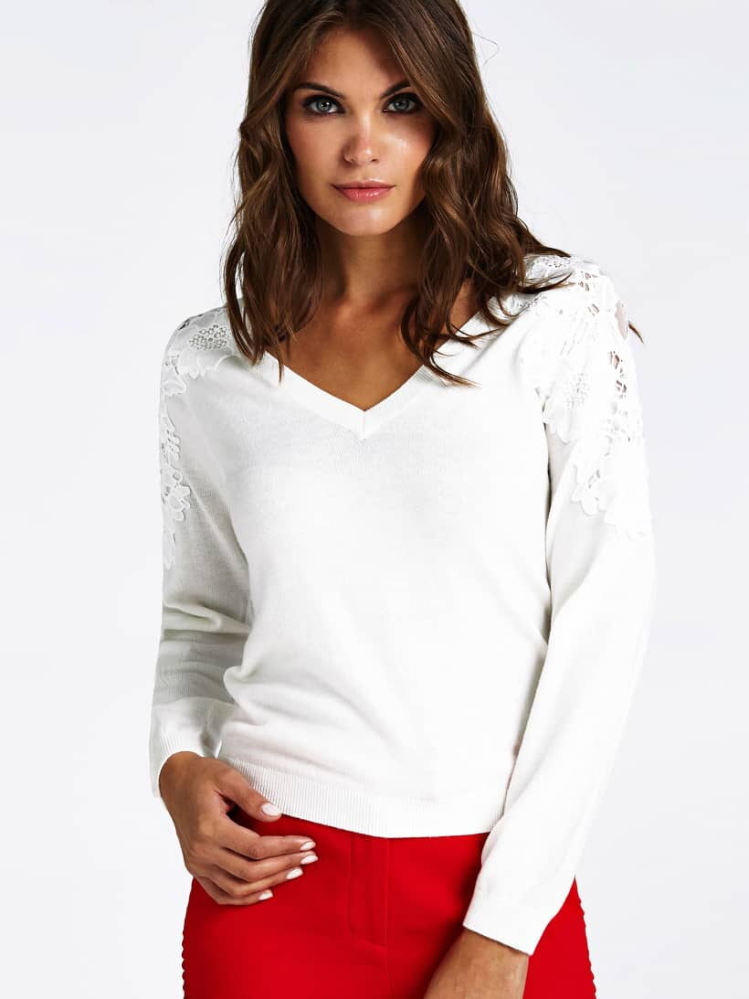 PULL MARCIANO DETAILS DENTELLE | GUESS.eu