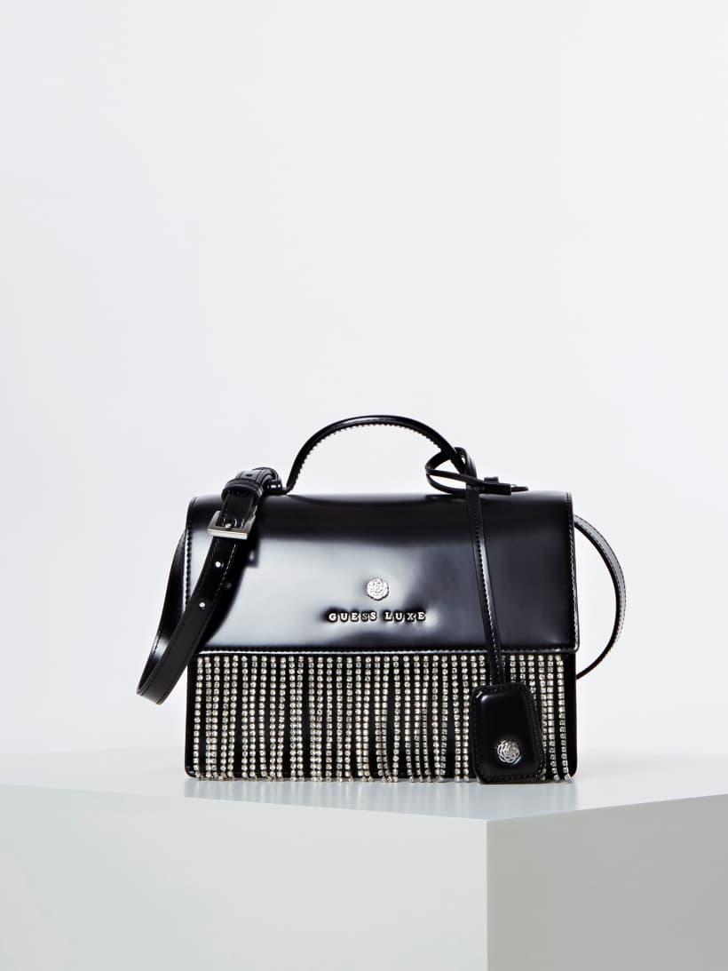 Guess Leder Tasche Luxe: : Bekleidung
