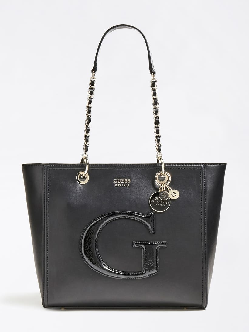 Patent shoulder bag Vikky GUESS