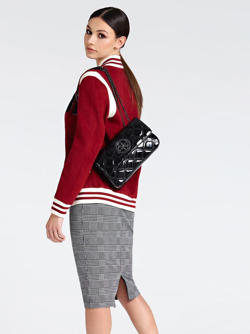 Open Road Patent Look Logo Crossbody