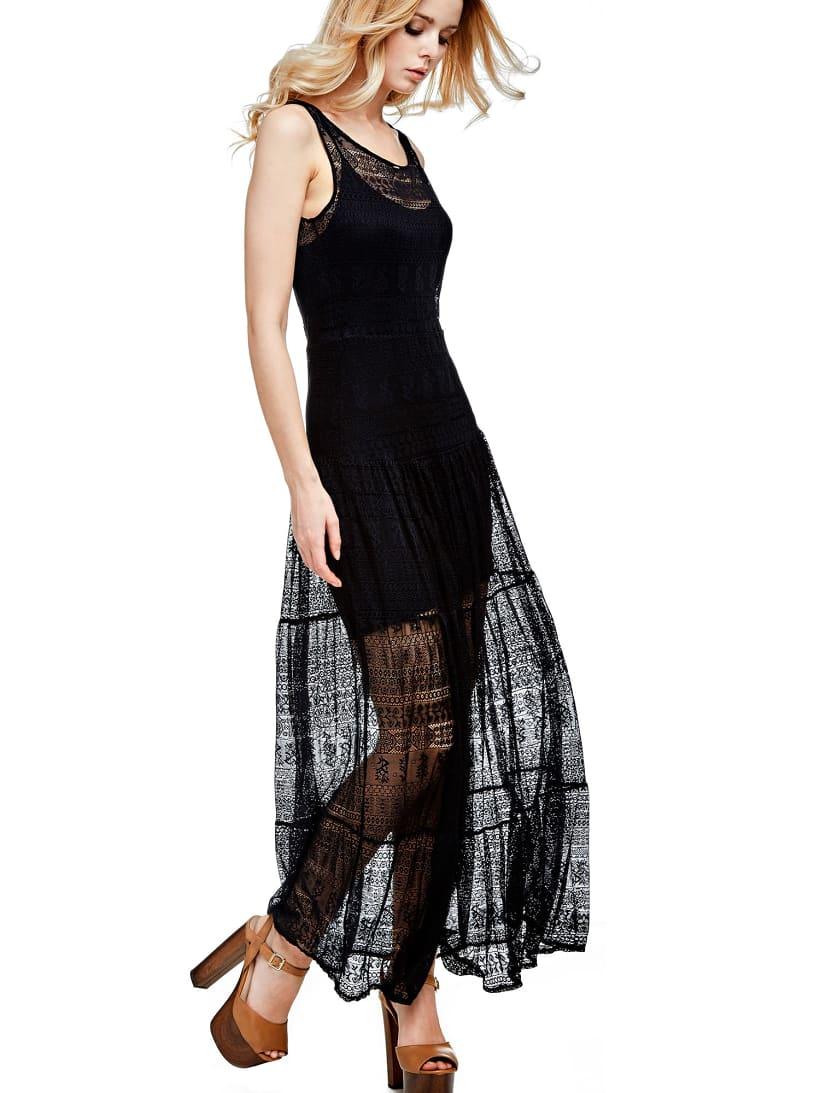 Long Lace Dress Guesseu