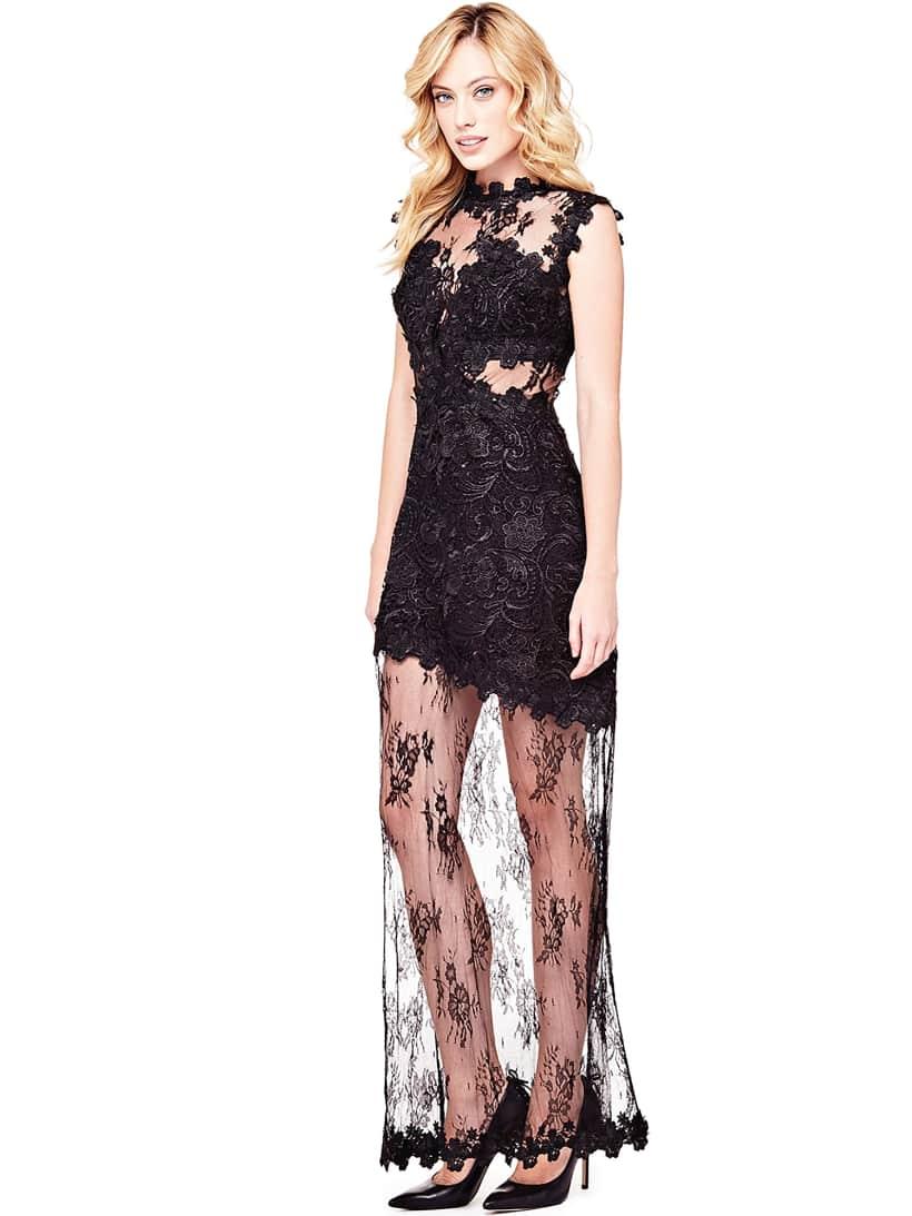 Transparent Lace Dress Guesseu