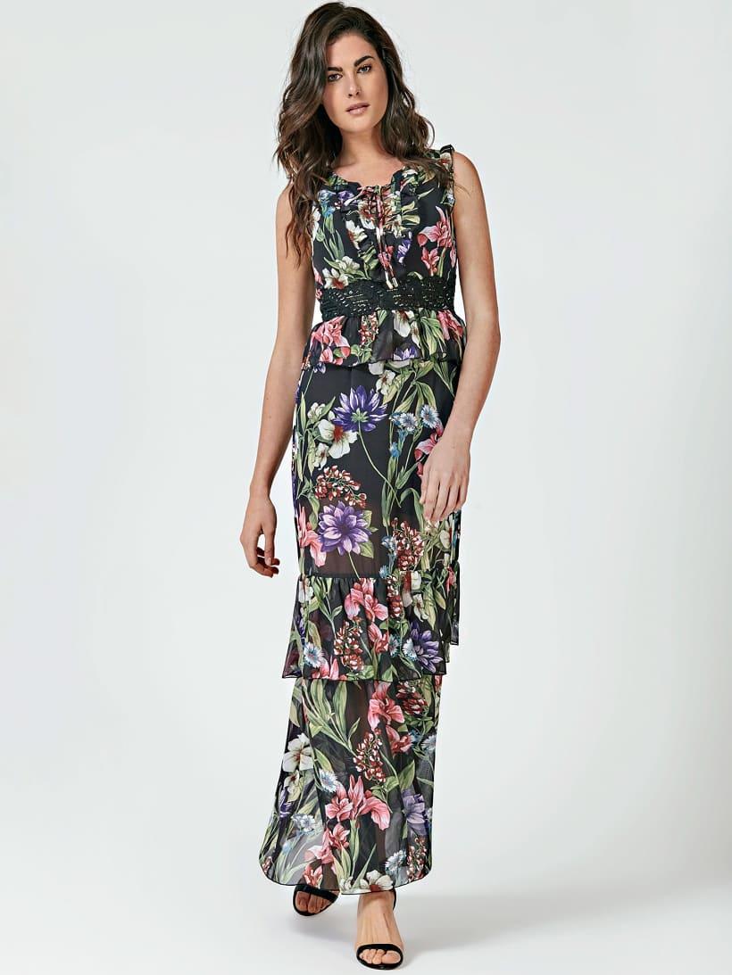 robe guess imprimé fleurs