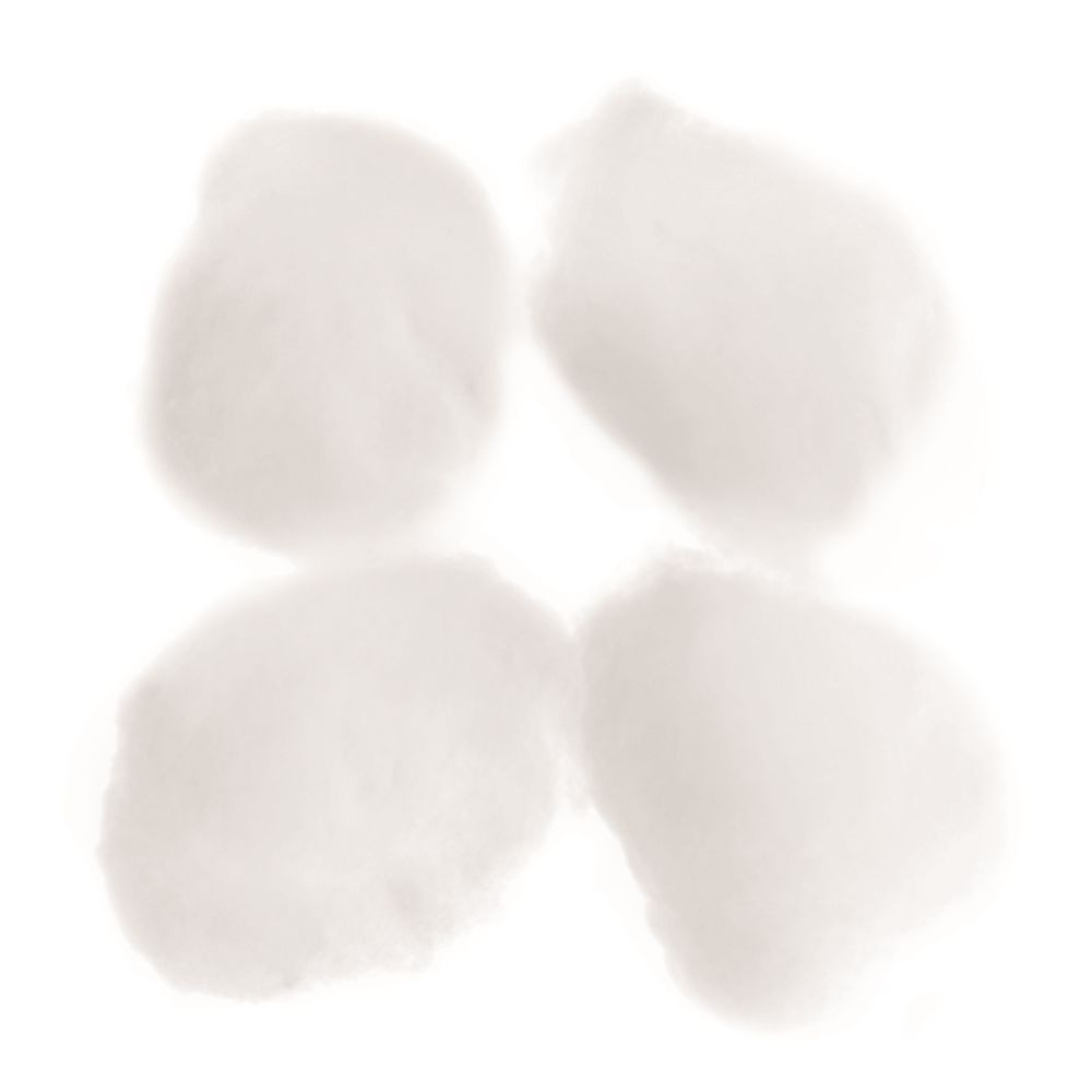 Cotton Balls, White, Bulk Packaging