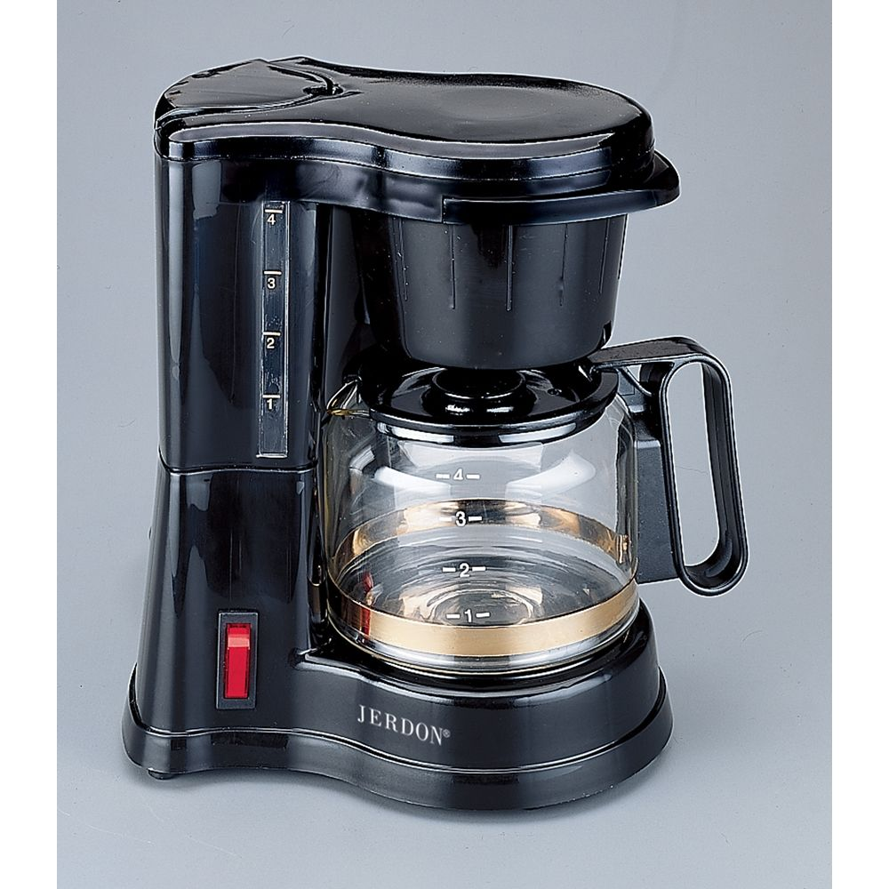 Jerdon® 4-Cup Coffeemaker, Black