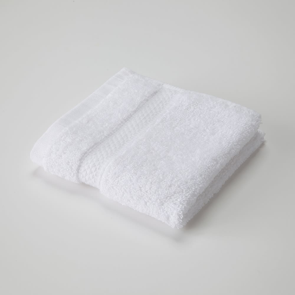 Brentwood Washcloth, Cotton Dobby Border, 13x13, 1.5 lbs/dz, White