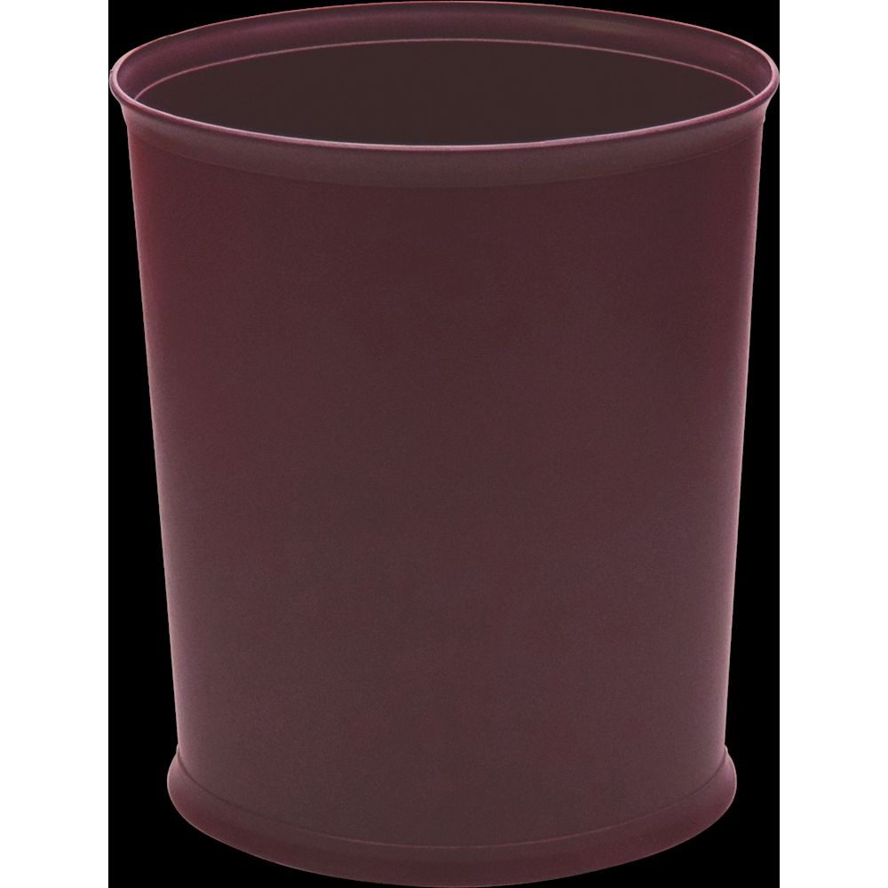 Design Line Wastebasket, 13 Quart Oval, Burgundy