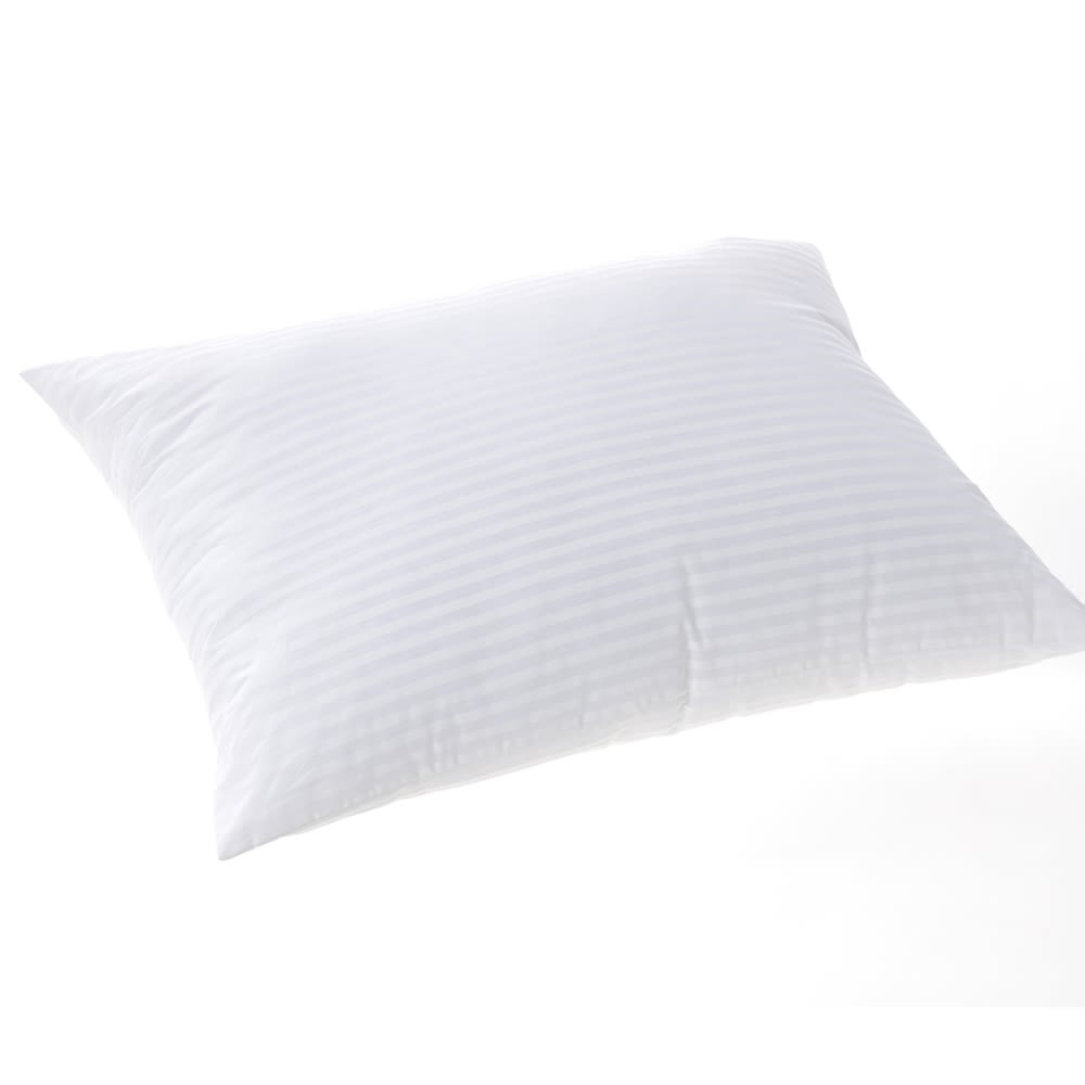 Comforel Pillow, Dupont Cluster Fiber Fill, T230 Damask Cotton Cover, Queen 20x30, 26 oz, Wh Stripe