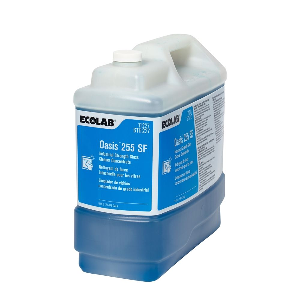 Ecolab® Oasis® 255SF Industrial Strength Glass Cleaner Concentrate 2.5 Gallon