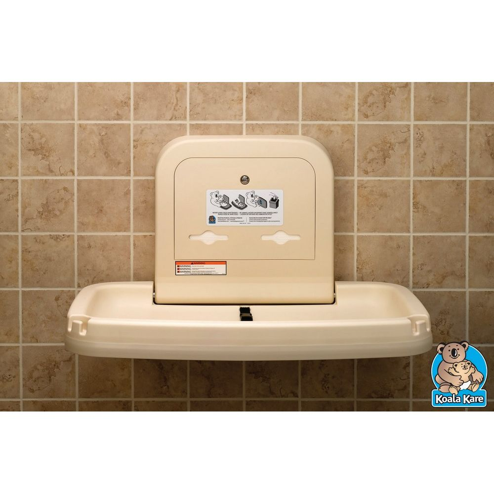 Koala Kare® Baby Changing Station, Horizontal, Cream