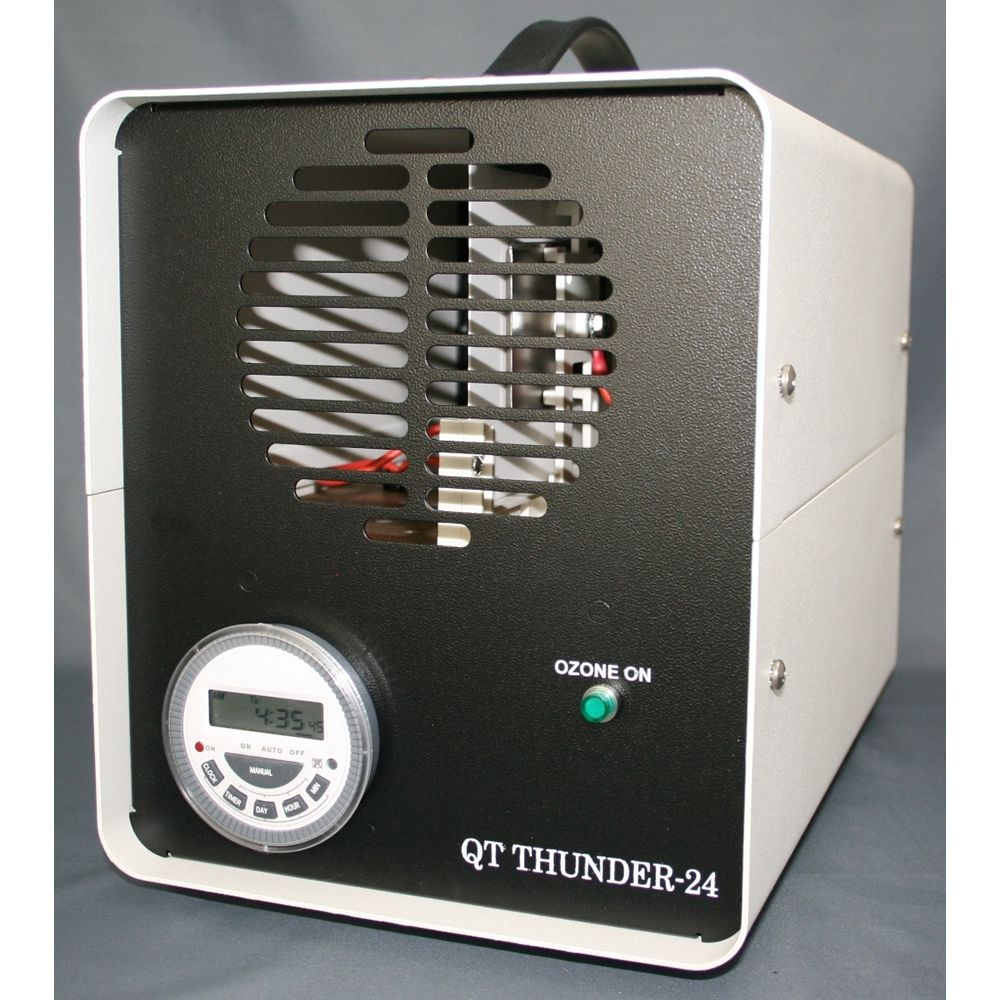 Queenaire® QT Thunder-24 Ozone Odor Eliminator Machine QT24-II, Treats Areas Up To 10,000 Cu Ft