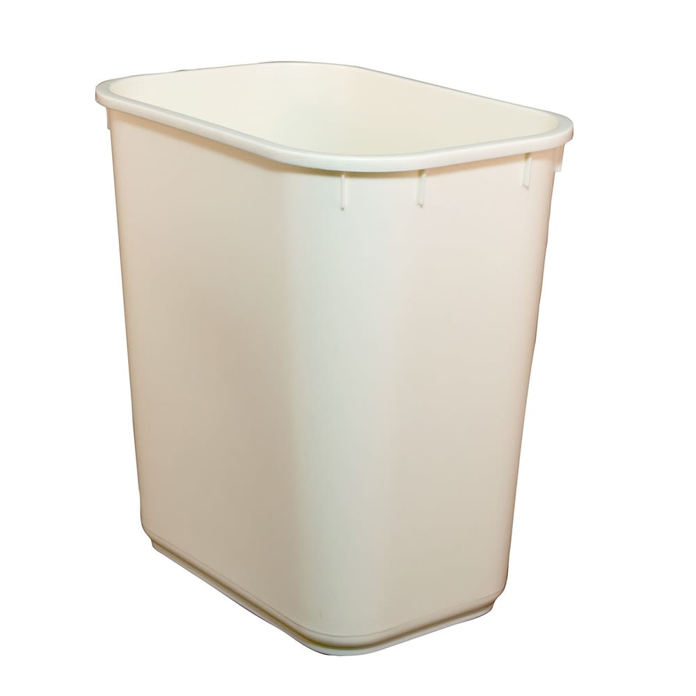 Essential Wastebasket, 13 Quart Rectangular, Vanilla
