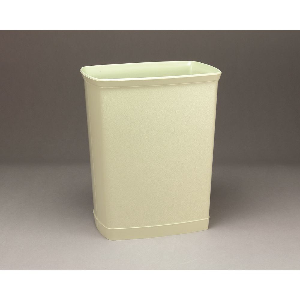Design Line Wastebasket, 7 Quart Rectangular, Bone