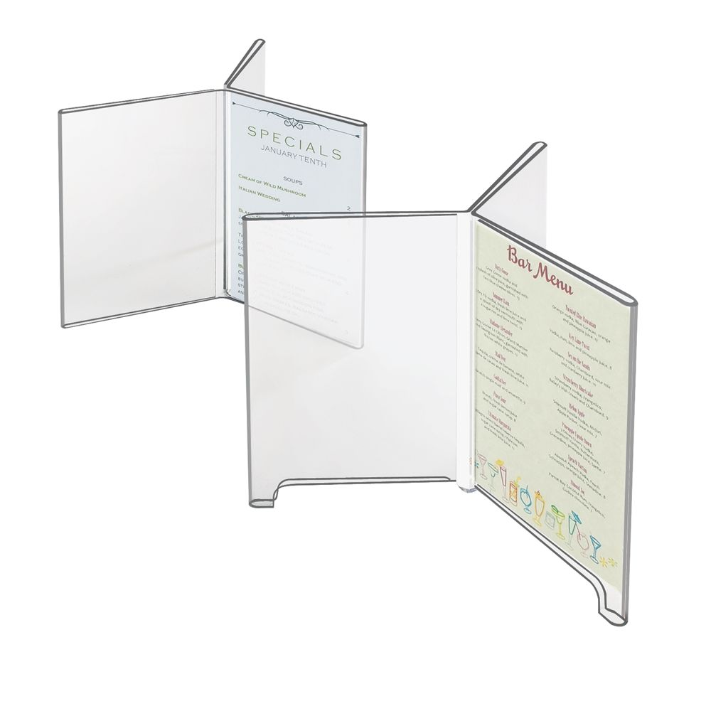 3-Wing Table Top Displayette, 4x6, Clear