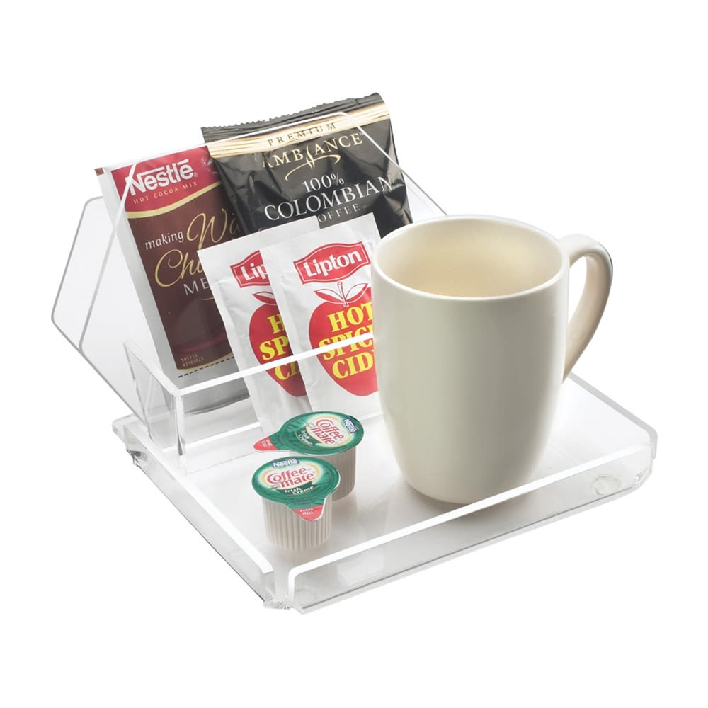 Coffee Amenity Tray, Clear