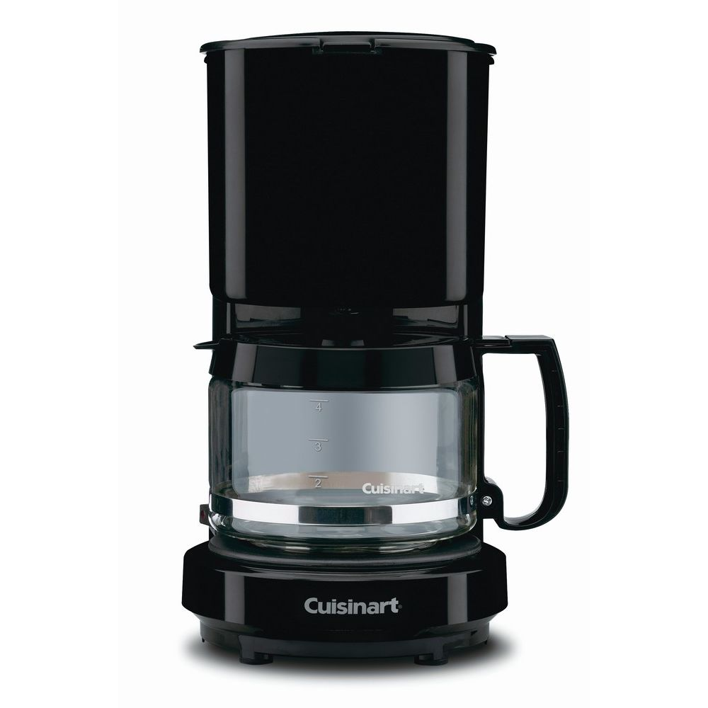 Cuisinart® 4-Cup Coffeemaker, Black with Glass Carafe