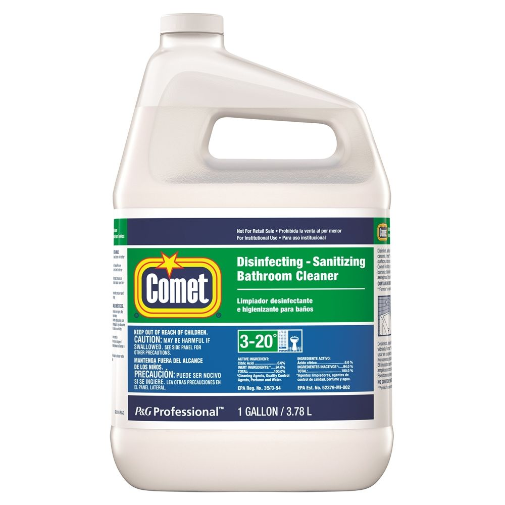 Comet® Disinfecting Bathroom Cleaner, Closed Loop, 1 Gallon