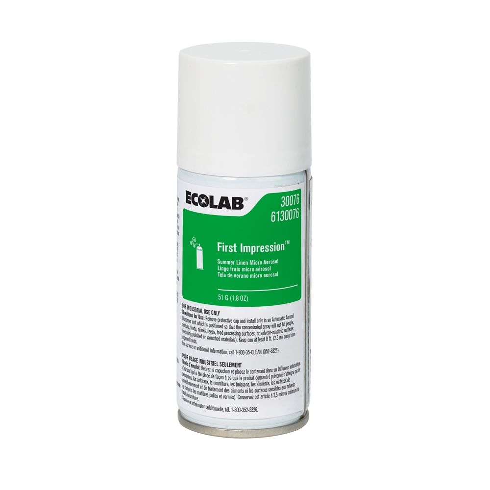 Ecolab® First Impression® Micro Aerosol, Summer Linen 1.8oz #6130076