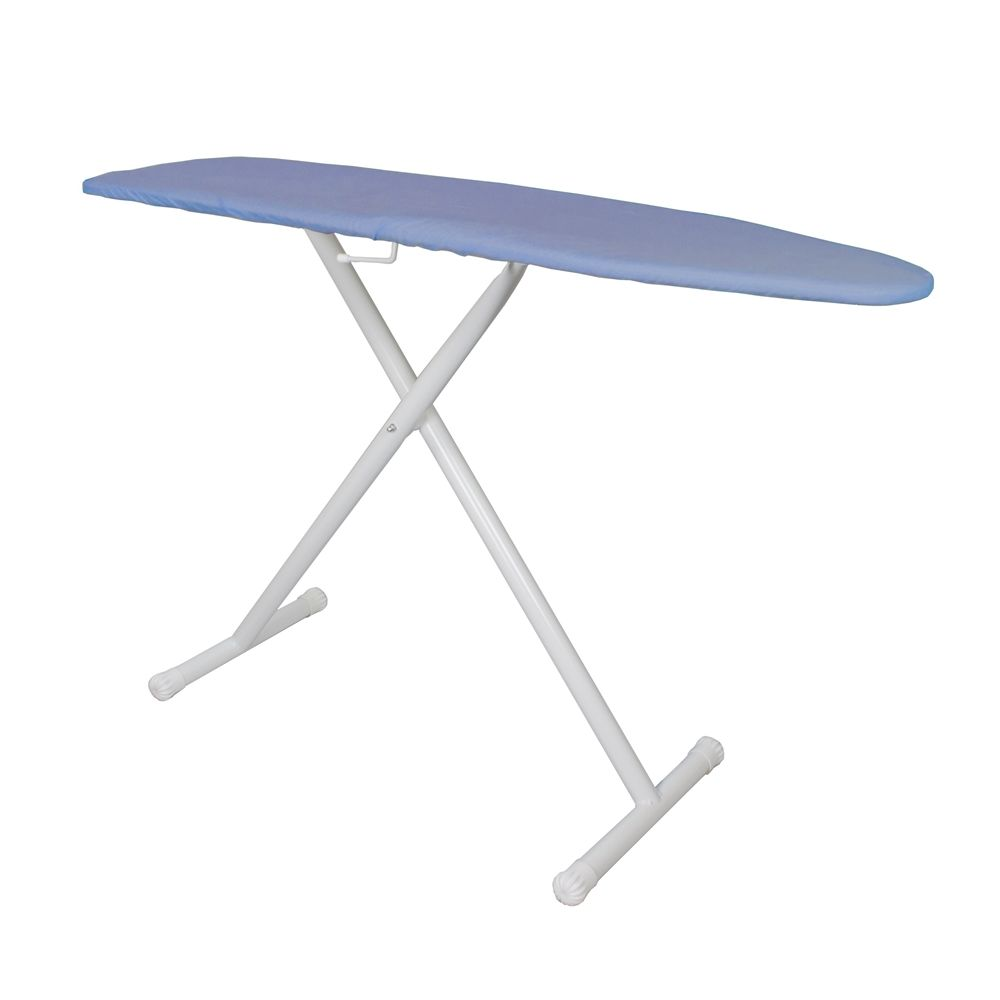 "Hospitality 1 Source Full Size T-Leg Ironing Board, 53""x14"", Blue Pad and Cover"