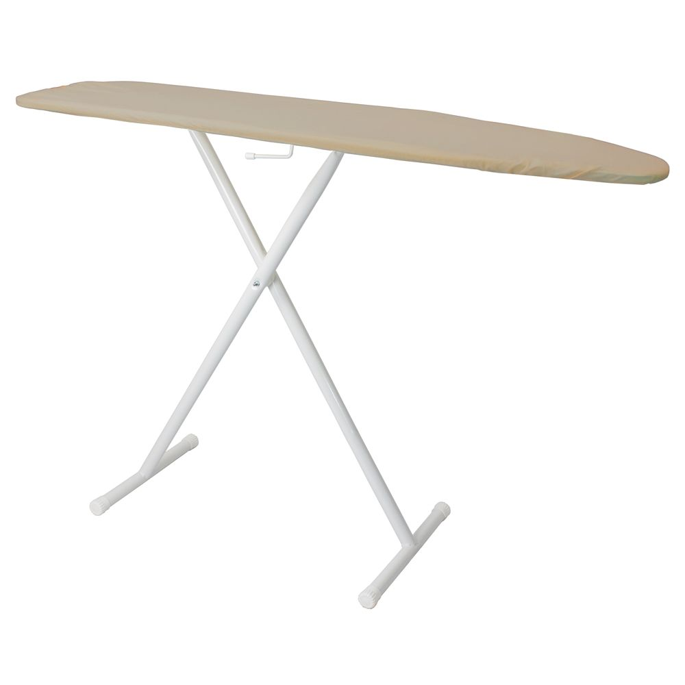 "Hospitality 1 Source Full Size T-Leg Ironing Board, 53""x14"", Copper Pad and Cover"