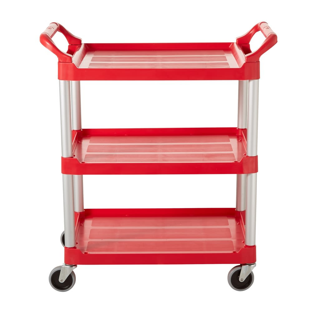 Rubbermaid® Service Cart with 4 In Swivel Casters, Red