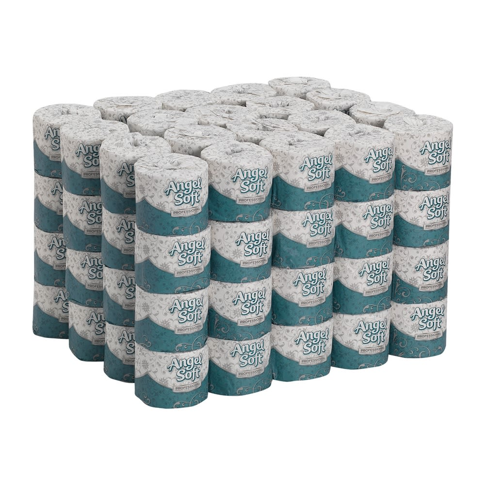 Angel Soft Professional Series Premium 2-Ply Embossed Toilet Paper by GP PRO, 450 Sheets Per Roll