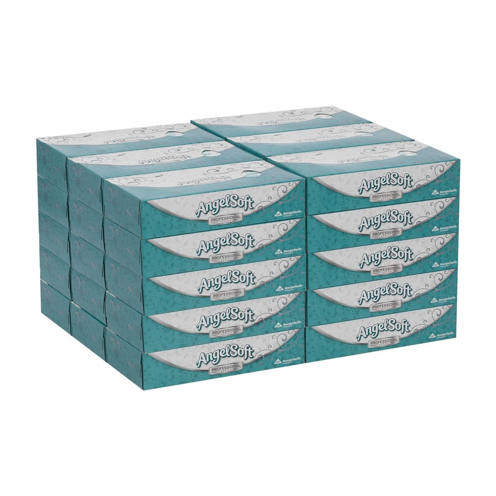Angel Soft Professional Series Premium 2-Ply Facial Tissue by GP PRO, Flat Box, 100 Sheets Per Box