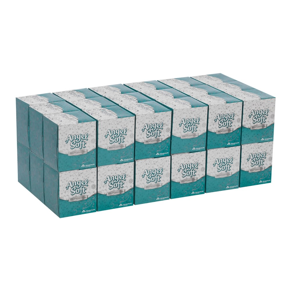 Angel Soft Professional Series 2-Ply Facial Tissue by GP PRO, Cube Box, 96 Sheets Per Box